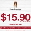 Hush Puppies Offer $15.90 On Selected Tees In Exchange For Your Email