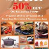 Le Creuset Sale @ Tangs Vivocity Offers Up To 50% Off On Selected Cookware