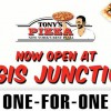 Tony's Pizza Bugis Junction Restaurant Opens with 1-For-1 Deal this Friday
