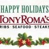 Tony Roma's offers Christmas & New Year's Eve Menu for $88