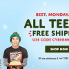 Threadless offers free shipping on all tees this Cyber Monday