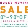 Page One relocates warehouse with a massive moving out book sale