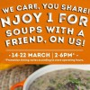 Enjoy 1-for-1 at The Soup Spoon stores from 2pm to 6pm daily this week