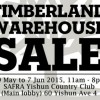 Timberland Warehouse Sale happening at SAFRA Yishun Country Club till Sunday