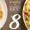Pastamania $8 pasta or baked rice lunchtime deal during weekdays