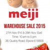 Meiji Annual Warehouse Sale 2015 is coming later this month