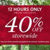 Esprit Singapore offers fixed 40% Off Storewide Flash Sale Online for 12 hours