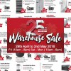 EuropAce largest Warehouse Sale is happening this Labour Day Weekend