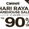 Celebrate Hari Raya with Cornell Warehouse Sale happening this weekend (June 4)