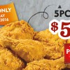 Popeyes Day falls on June 5: Buy 5 Pieces of Fried Chicken for just $5.90