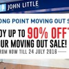 John Little Jurong Point Moving Out Sale: Up to 90% discounts on everything