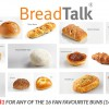 16 of BreadTalk Fan Favourite Buns are up for grabs at $1 each for a week