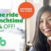 Grab extends $5 Lunchtime Discount off GrabCar rides until July 22