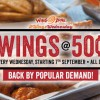 Wing Zone 50c Wednesday Promotion is back again this September