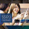 Earn $120 cashback when you apply for a new Citibank credit card