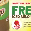 Get a free Iced Milo with Happy Meal purchase at McDonald's this week