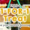 Redeem this 1-for-1 treat on your favourite drink at Starbucks starting January 30