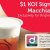 Don't say #BoJio! Singtel customers enjoy KOI Signature Macchiato for just $1