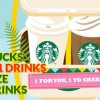 Starbucks 1-for-1 offers returns! Any size any drinks from February 20 – 24 this week