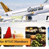 NTUC members enjoy huge 50% discount on Tigerair exclusive flight offers from now till February 27