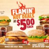 Burger King $5 Flamin' Hot Deals on Combo Meals return with two new burgers