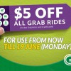 Two more Grab Promo Codes that will shave $5 off rides till next Monday (16 – 19 June)