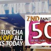 Tuk Tuk Cha turns two, offers 50% off all items including your favourite Thai Milk Tea today (July 4)