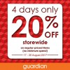 Guardian launches 4-Day Storewide Sale offering 20% discount across everything in store