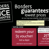 BORDERS Books 25% Discount Coupon