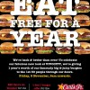 Carl's Jr. Eat FREE For a Year