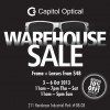 Capitol Optical Warehouse Sale 2013, Frames + Lenses From $48
