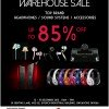 Hwee Seng Audiophile Warehouse Sale 2013: Up To 85% Off Headphones, Sound Systems & Accessories