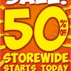 World Of Sports Crazy Sale 50% Off Storewide January 2014 Promotion