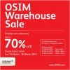 OSIM Warehouse Sale March 2014: Display Clearance Sets Up To 70% Off