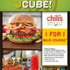 [BOGO] Chili's 1-For-1 Main Course Exclusive Promotion Only @ JCube March 2014