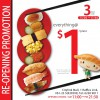Sushi Express Reopens @ CityLink With $1 Sushi Plates For 3 Days