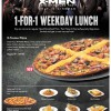 Pizza Hut 1-For-1 Weekday Lunch Promotion, Free Main Course With Pizza Ordered