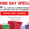 Uniqlo Boxing Day Special offers 15% off everything in online store with minimum purchase