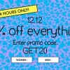 ASOS offers 20% off on everything including sale items on 12.12