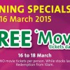 Eng Wah Cinemas giving away free movie tickets at 321 Clementi Mall