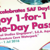 SAF Day 2016 Promotions: 1-for-1 Adult Passes to Universal Studios, S.E.A. Aquarium & Adventure Cove