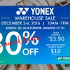 Your badminton gear upgrade is here. YONEX Warehouse Sale 2016 returns this week