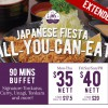 Ginza Bairin Japanese Fiesta Buffet is back! 90-minute all you can eat from just $35 nett