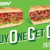 Subway Singapore #BOGO Day lets you enjoy 1-for-1 subs for one day on October 26