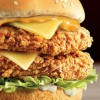 KFC new Cheesy Zinger Stacker comes with 2 Zinger fillets, 2 cheese slices and 2 classic sauces