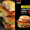 Fan of KFC's Zinger Mozzarella Burger? You can get two of them for just S$9.90 now
