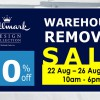 Hallmark Bed & Bath Warehouse Removal Sale offers up to 90% off beddings from August 22 – 26