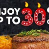 Outback Steakhouse celebrates 30th Anniversary: 30% off total bill daily from now till September
