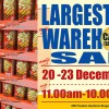 Another Meiji Warehouse Sale is happening from December 20 – 23, claims to be the largest one