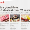 Here are the latest 1-for-1 Dining Deals with OCBC Cards valid till Aug 2019. Over 70+ restaurants to choose from